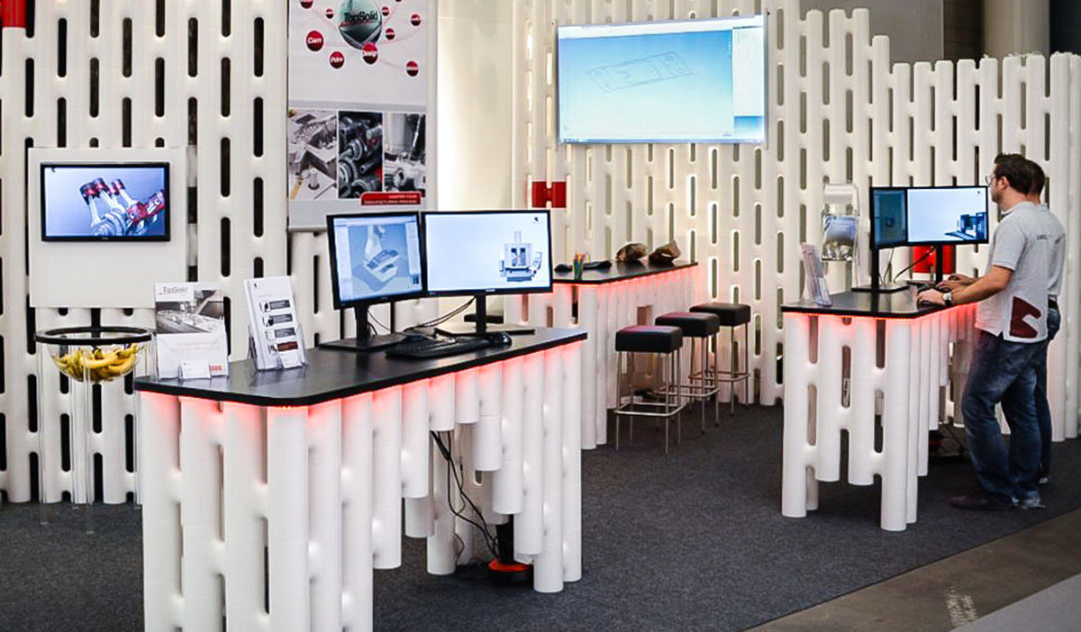 Modular walls and tables for exhbition booth and stands